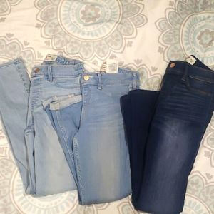 3 Pair Abercrombie Pull On Jegging sz 11/12